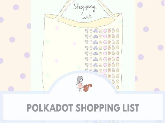 Polkadot Shopping List | www.sweetestchelle.com