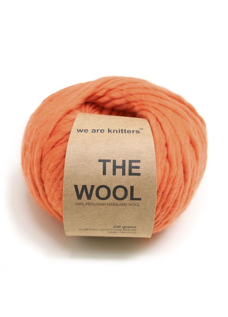 100% Peruvian Wool Orange
