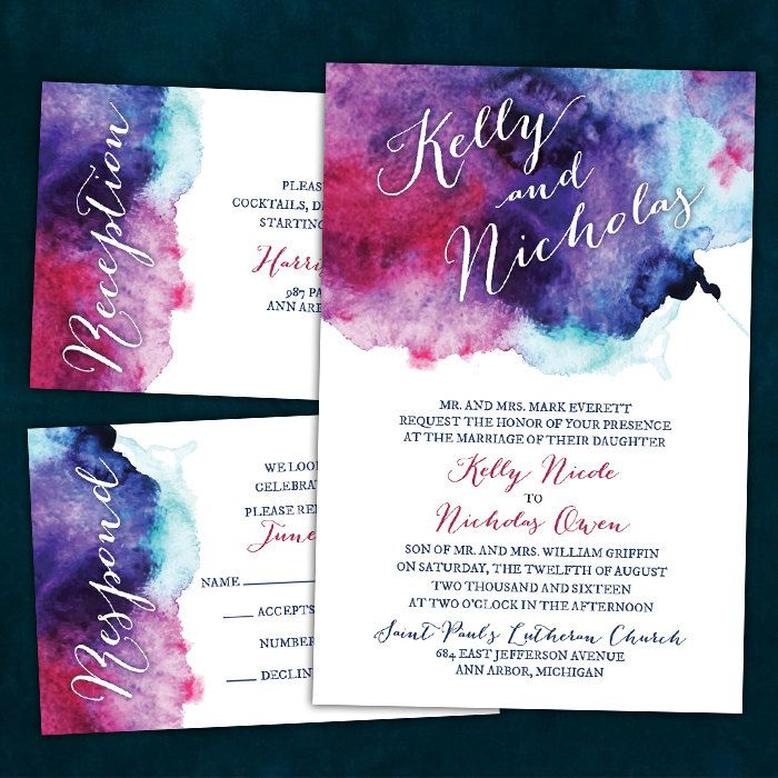 Best 25 watercolor wedding ideas on pinterest watercolor make your wedding into a work of art with these jewel tone watercolor wedding invitations junglespirit Image collections