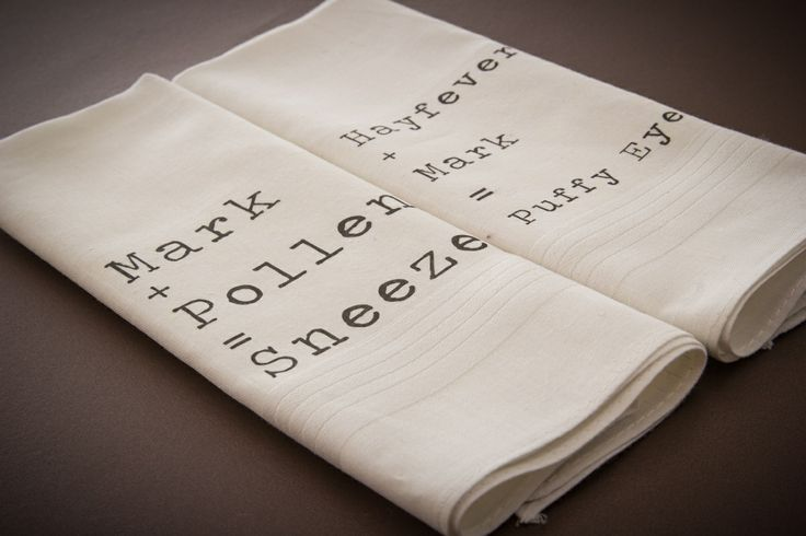 Hayfever?? These personalised Hankies are a must have!!