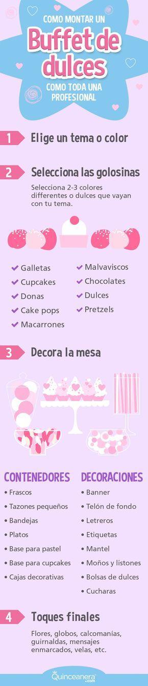 ¡Tener un bufet de dulces en tu recepción funciona como magia! Un bufet lleva tu fiesta al siguiente nivel porque honestamente, ¿quién puede resistirse a una mesa llena de deliciosos chocolates y exquisitas magdalenas? ¡Además de que se ve increíble! - See more at: http://www.quinceanera.com/es/decoracion/como-montar-un-bufet-de-dulces-como-toda-una-profesional/#sthash.1pAblgK2.dpuf