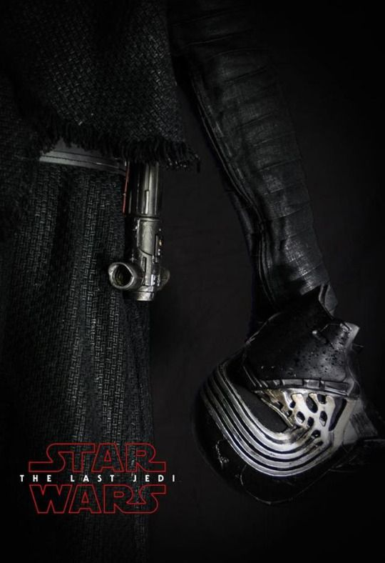 #the last jedi#star wars << This is probably a fan-made poster but it's still BEAUTIFUL!!!