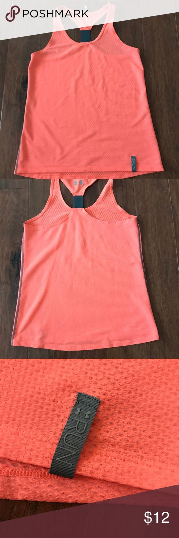 Under Amour tank top Under Amour women's running tank top. Size small. Coral/peach color Under Armour Tops Tank Tops