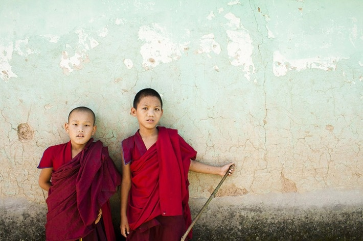 Young monks of Dharamsala.