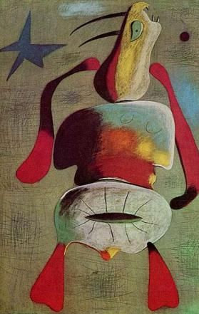 Joan Miró, Dona, 1934. SURREALISME NO ORTODOXE. 1945 PARIS-NY.