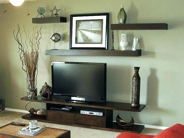 Image Result For Decorate A Large Wall Decor Around Tv Shelves Around Tv Shelf Above Tv