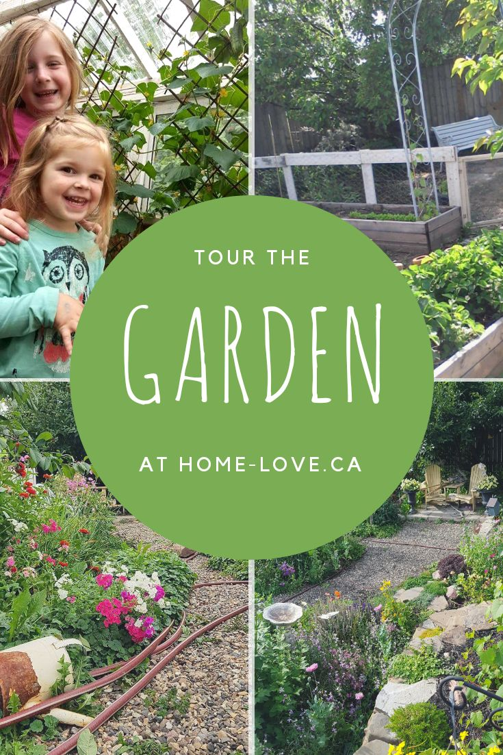 Tour the Home Love Garden- Ideas, plans, instructions for designing a backyard garden