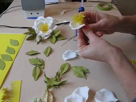 Открытая роза из фоамирана мастер класс часть 1. Foam rose. - YouTube