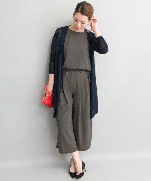 楽ちんおしゃれ♪秋冬ファッションアイテム ガウンチョオールインワンを集めました!