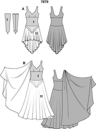 Выкройка костюмов для бальных танцев