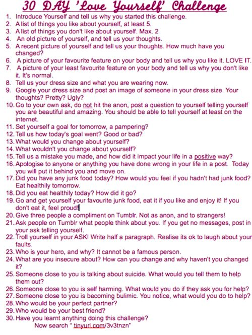 love yourself | 30 Day Love Yourself Challenge
