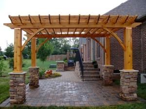 outdoor kitchen with pergola | ... outdoor living space check out our outdoor kitchens pergolas firepits by ines