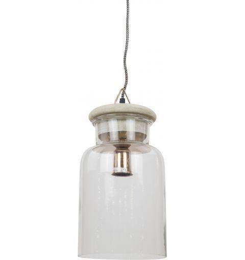 Chowk Large Pendant Light, Copper/Clear