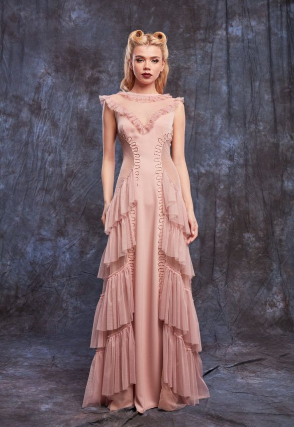 Online Shop - evening dusty pink dresd. #eveninggowns  #custommade #dress #2017 #2018 #fashioncollection