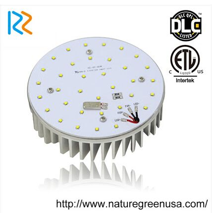 http://www.naturegreenusa.com/Product/LED-Retrofit-Kit/99.html Advantages of LED retrofit kits: 8 years warranty Using high quality CREE chips Mean Well UL/cUL driver, very easy for repair/replacement Various options: AC100-277V Higher lumen compared to similar models of others Positive cooling technol