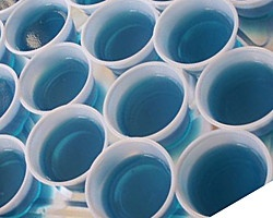 BAJA BLUE JELLO SHOTS: The alcoholic drink in jello shot form  #JelloShots