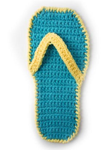 Knitting Pattern For Flop : Flip Flop Dishcloth Yarn Knitting Patterns Crochet Patterns Yarnspira...