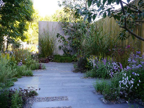 Potential paver ideas. Not keen on all asphalt or papers but somehow broken up with plants/natural elements