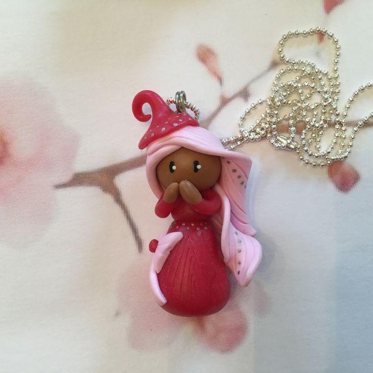 Collier petite fille métisse,rose,collier rose,collier Fimo : Collier par oeil-de-tigre