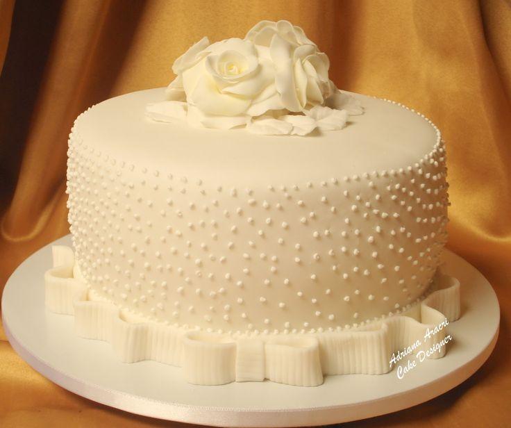 Detalhe da imagem de —bolo de casamento