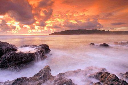 By I Md Tangkas, Hock: sunset at kute Lombok, Nusa Tenggara Barat - Indonesia via Ayofoto!