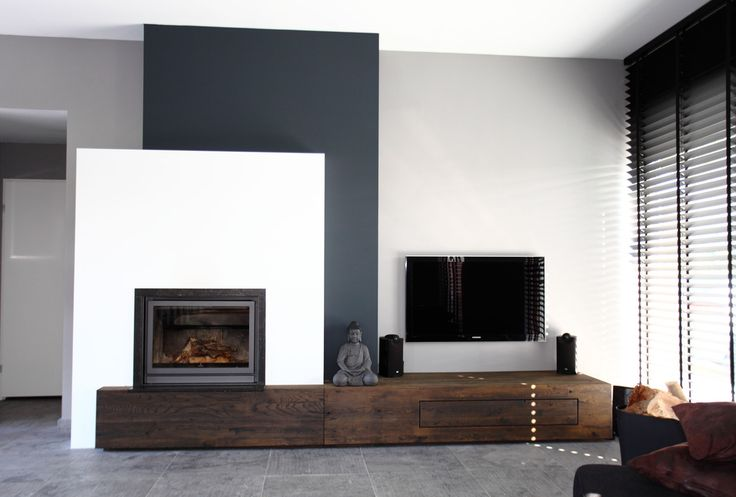Image result for double corner contemporary fireplace