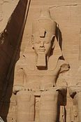 The Abu Simbel temples were originally carved out of the mountainside during the reign of Pharaoh Ramesses II in the 13th century BC, as a lasting monument to himself and his queen Nefertari, to commemorate his alleged victory at the Battle of Kadesh, and to intimidate his Nubian neighbors. However, the complex was relocated in its entirety in 1968.