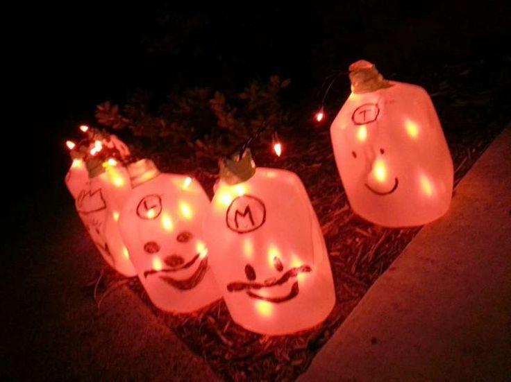 Decorazioni con il riciclo creativo per Halloween - Lanterne luminose