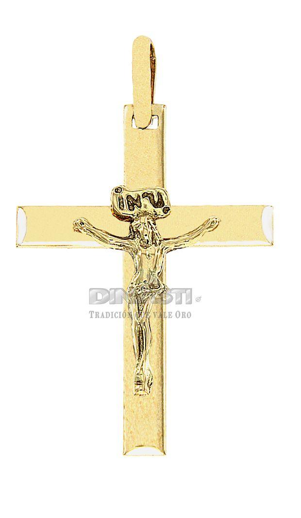 SKU CRSOR0009 CRISTO ORO PULIDO EN FORMA MEDIO TUBULAR ventas@dinasti.com #ReligiousCharm #fashion #jewelry #Cristosdeoro #cristos #cruces #articulosreligiosos #dijesreligiosos