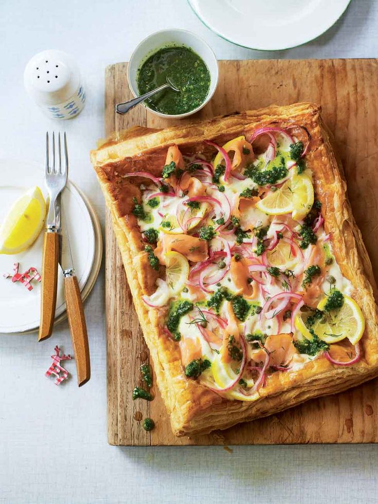 This smoked salmon tart is a great way to use up Christmas leftovers but also makes a quick and easy midweek meal whatever the season.