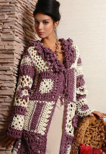 Irish crochet &: CROCHET COAT ... ПАЛЬТО
