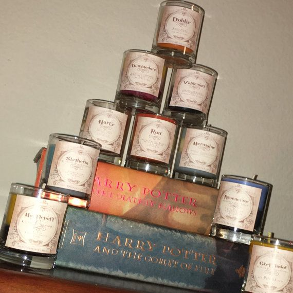 Harry Potter Themed Candles Vegan Candles Hand by RensRemedies