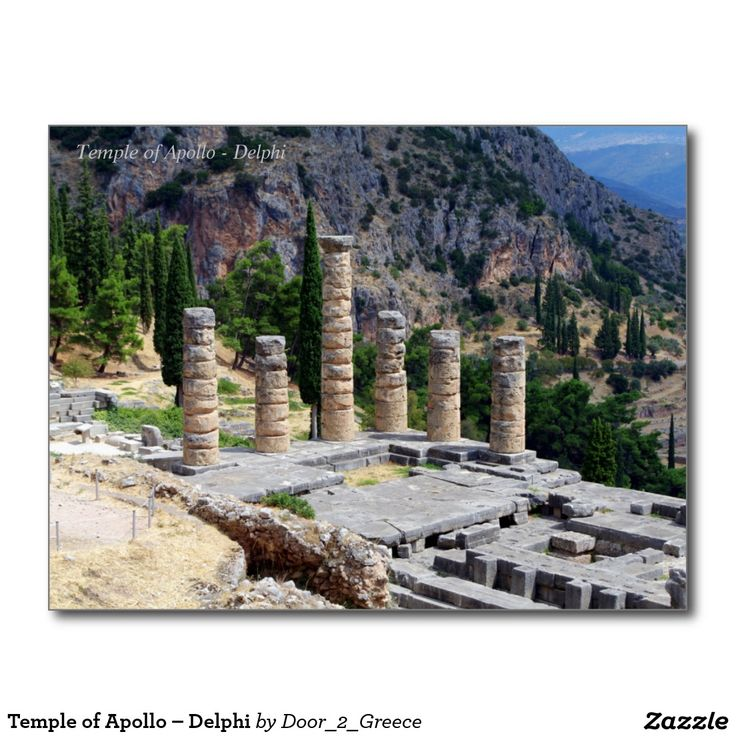 Temple of Apollo – Delphi Postcard