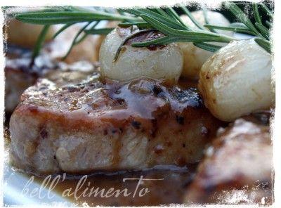 Rosemary Pork Chops: I added fresh rosemary, salt  to the flour & subbed mushrooms for onions.