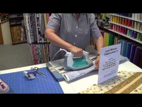 10-Minute Table Runner Tutorial at Keepsake Cottage Fabrics - YouTube