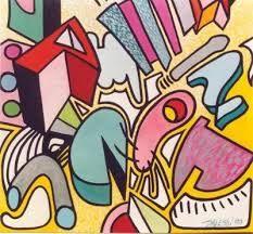 Dit is een voorbeeld van een over-all compositie, dit kun je zien doordat er overal op het schilderij iets gebeurd.