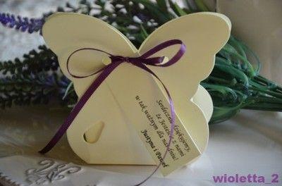 Podziekowania dla Gości motylki expres wysyłka 24h
