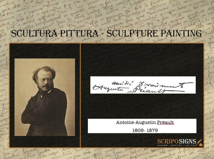 Antoine-Augustin Préault - #scripomarket #scriposigns #scripofilia #scripophily #finanza #finance #collezionismo #collectibles #arte #art #scripoart #scripoarte #borsa #stock #azioni #bonds #obbligazioni