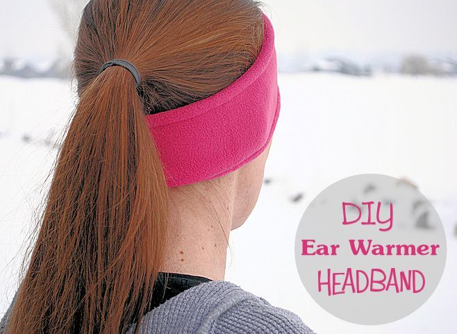 Make your own ear warmer headband with this easy pattern and tutorial. This headband is made of fleece and takes about 5 minutes to make.