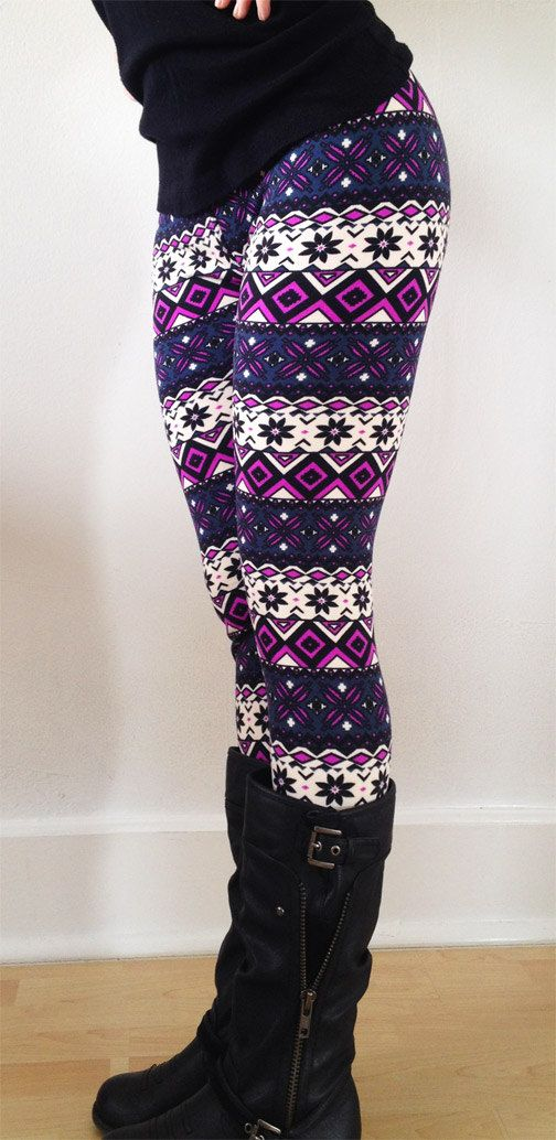 Women leggings Flower Leggings Colorful Leggings by JillNicoleCo, $16.00