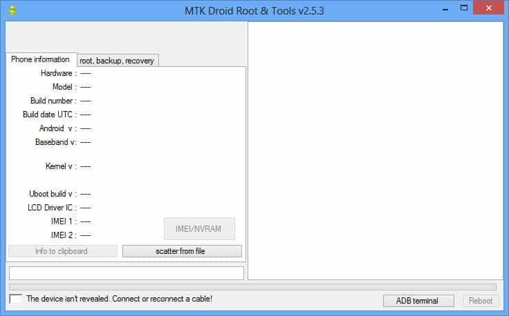 how to backup firmware using mtk droid tools