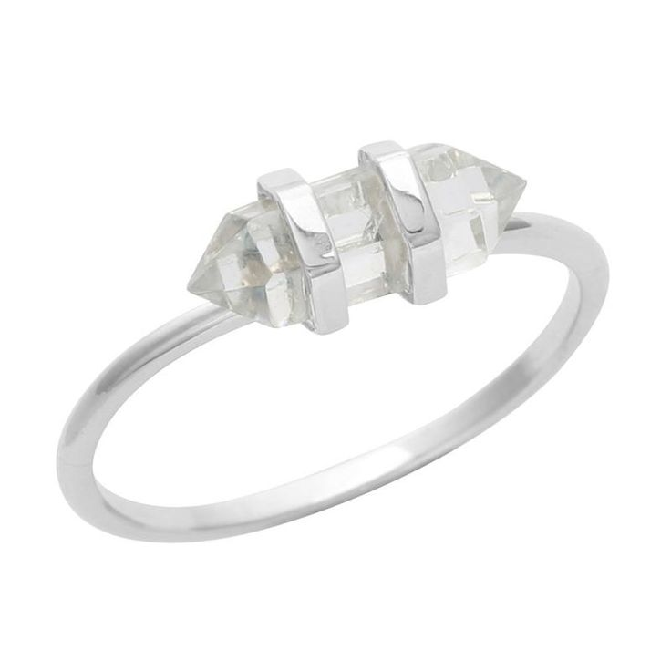 Stackable Double Point Crystal Ring - Midsummer Star