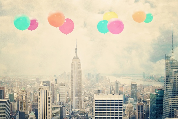 Balloons over the City Art Print by Maybesparrowphotography | Society6