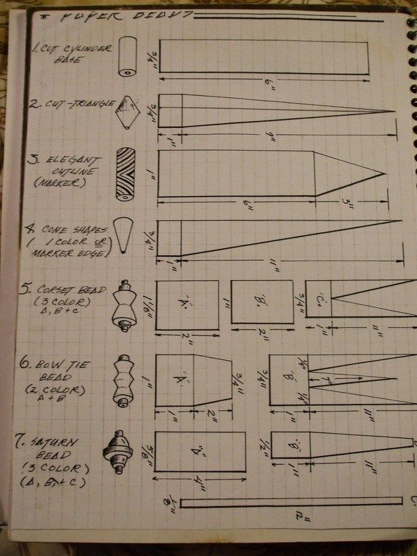 Paper bead templates