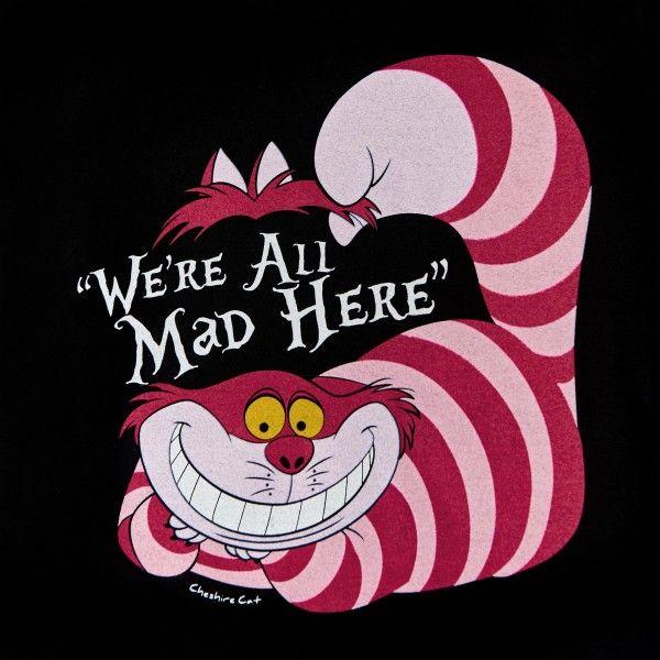 Alice Im Wunderland Grinsekatze T Shirt Damen Schwarz Alice Im Wunderland Grinsekatze Alice Im Wunderland Alice Im Wunderland Katze