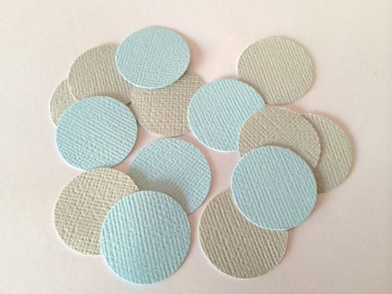 Blue and grey confetti. Perfect decoration by SnowflakeDesigns2015