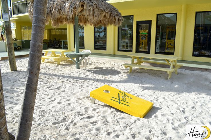 Outdoor Activities at Harry's Beach Bar    #beach #bar #resort #blue #fun #drinks #tropical #stpete #florida #tampa #clearwater #paradise #lounge #family #vacation #games