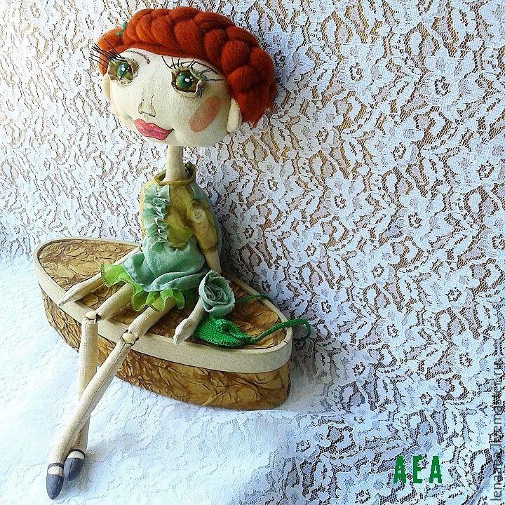 Купить НИКОЛЬ Шарнирная текстильная кукла - разноцветный, шарнирная кукла, текстильная кукла, авторская кукла