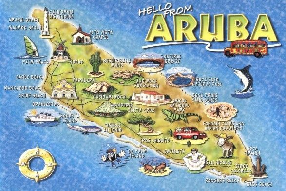 Aruba map card | Flickr - Photo Sharing!