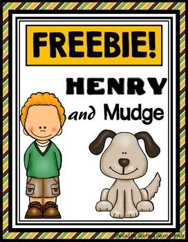 Henry and Mudge The First Book Journeys Lesson 1, Unit 1(7 Literacy Centers) + Worksheets, Booklets, (104 Pages) This is a not meant to replace the lesson in the Journeys Reading Series, but rather supplement.**This is FREE for a LIMITED TIME! Please take the time to leave feedback:)  I would really appreciate it.
